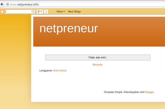 netpreneur dot info hosting di blogger