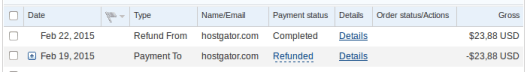 Refund dari Hostgator