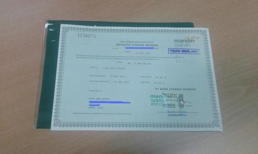 Bilyet Deposito BSM