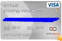 Tampilan VCC Entropay di hari pertama - EntroPay Virtual Card