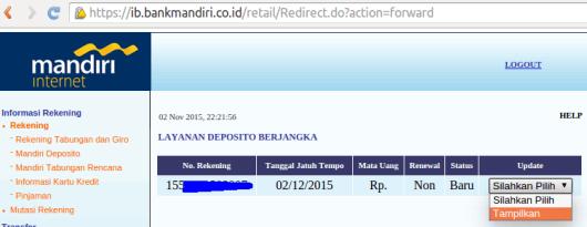 3 1 posisi setelah buka deposito via sms banking
