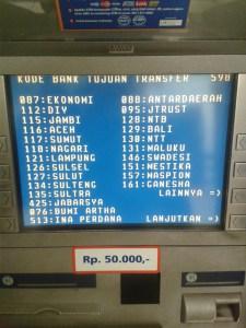 Daftar Kode Bank se Indonesia - layar atm hal 3