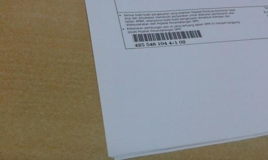 Barcode SPM (Surat Perintah Membayar)