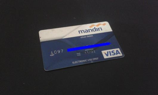 Kartu ATM Mandiri - KADALUARSA - VALID THRU