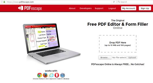 Web untuk edit pdf online
