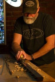 Bill Oyster of Oyster Bamboo Fly Rods in his workshop in Blue Ridge, Georgia.