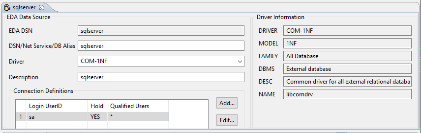 UniVerse External Database Access (EDA) with Microsoft ODBC