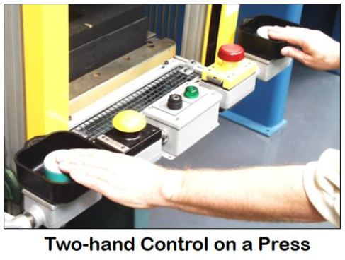 Two Hand Control on Press - Machine & Combustion Safety Blog