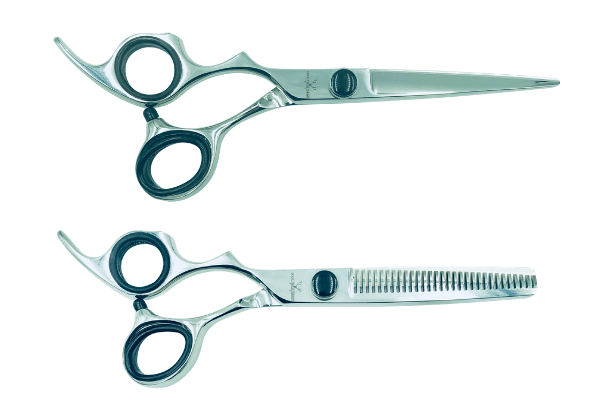 Premium - 2 Left-handed Shears with Traditional Handle (Black) (Modified)