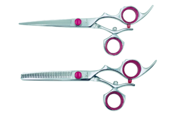 Premium - 2 Shears with Swivel Handle (Pink) (Modified)
