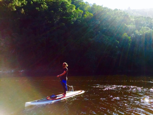 Some serious chill time on the Kaaimans River SUP paddle.