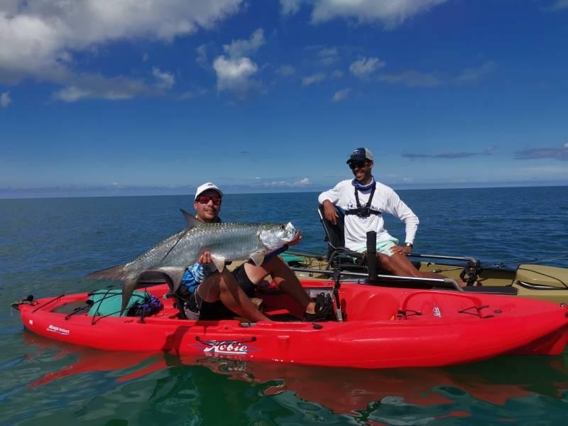 Pêche en Guadeloupe en kayak