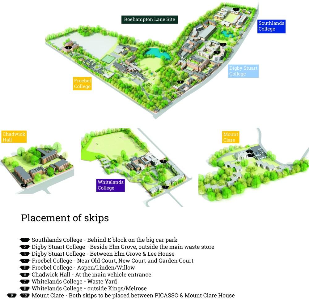 University of Roehampton Main Campus 3D - skips