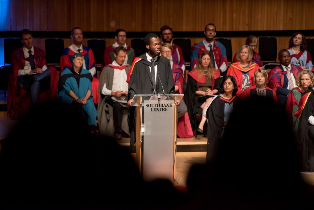 Chuchu Nwagu gives his inaugural address as RSU President
