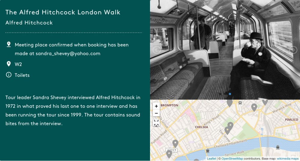 Alfred Hitchcock London Walk