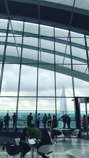 The Shard viewed from the Sky Garden