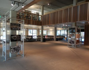 The Library foyer, with exhibition stands