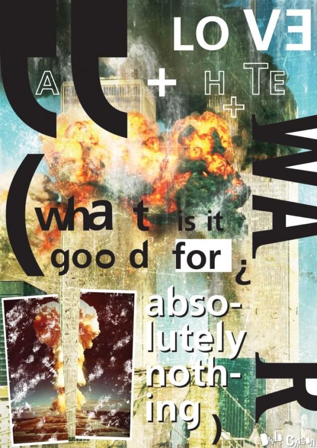 David Carson Постер 11 сентября Дэвид Карсон ДЭВИД КАРСОН - ПАГАНИНИ ТИПОГРАФИКИ              11