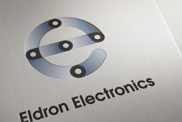 Eldron Electronics, фирменный стиль, знак и логотип