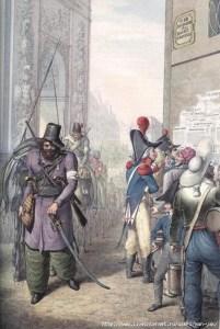 2774350_kazaki_v_parizhe_001 Любопытная коллекция акварелей Георга-Эммануэля Опица (1775-1841), который был очевидцем событий 1814 года и входа русско-австрийский войск в Париж. Казаки в Париже в 1814 году. Цветная литография. 2774350 kazaki v parizhe 001