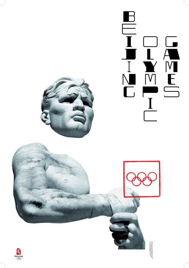 Плакат «Пекинские Олимпийские игры». 2006 Плакат сделан для международной выставки, посвященной Олимпиаде в Пекине. На плакате – выступающая из белого листа скульптура со стадиона Марми в Риме, открытого в 1932 году. Стадион, называющийся сегодня «Foro Оlimpico», раньше был известен как «Foro Mussolini». Его статуи представляют собой типичный образец искусства итальянского фашизма, использовавшего спорт и Олимпийские игры для политической пропаганды. По мысли Сонноли, Олимпиады могут служить пропаганде только демократии и прав человека. Олимпийские кольца сделаны на плакате красными и заключены в тонкую квадратную рамку, вызывая ассоциации с традиционными китайскими печатями. Вертикальные строки надписи со сверхконтрастным сопоставлением элементов букв напоминают иероглифы.  ЛЕОНАРДО СОННОЛИ. ОН ИТАЛЬЯНЕЦ, И ЭТО МНОГОЕ ОБЪЯСНЯЕТ. С.Серов ЛЕОНАРДО СОННОЛИ. ОН ИТАЛЬЯНЕЦ, И ЭТО МНОГОЕ ОБЪЯСНЯЕТ. С.Серов Olimpicgames