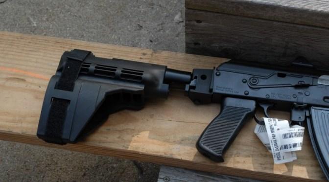 CNC Warrior Folding Arm Brace for Zastava M92 PAP
