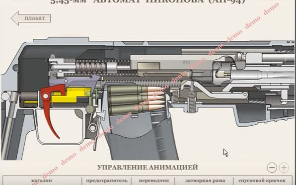 Video:  Two Computer Graphic Videos of AH-94 Nikonov Operation
