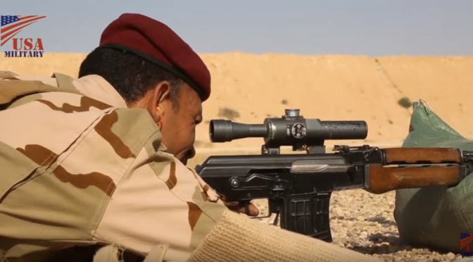Video: Troops training with the Zastava M76 and M91 Designated Marksman Rifles (DMRs)