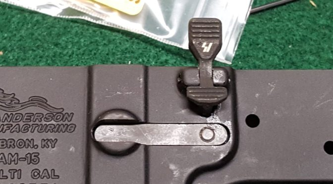 Assembling an AR Lower – Step 3 of 11:  Installing the Bolt Catch Assembly