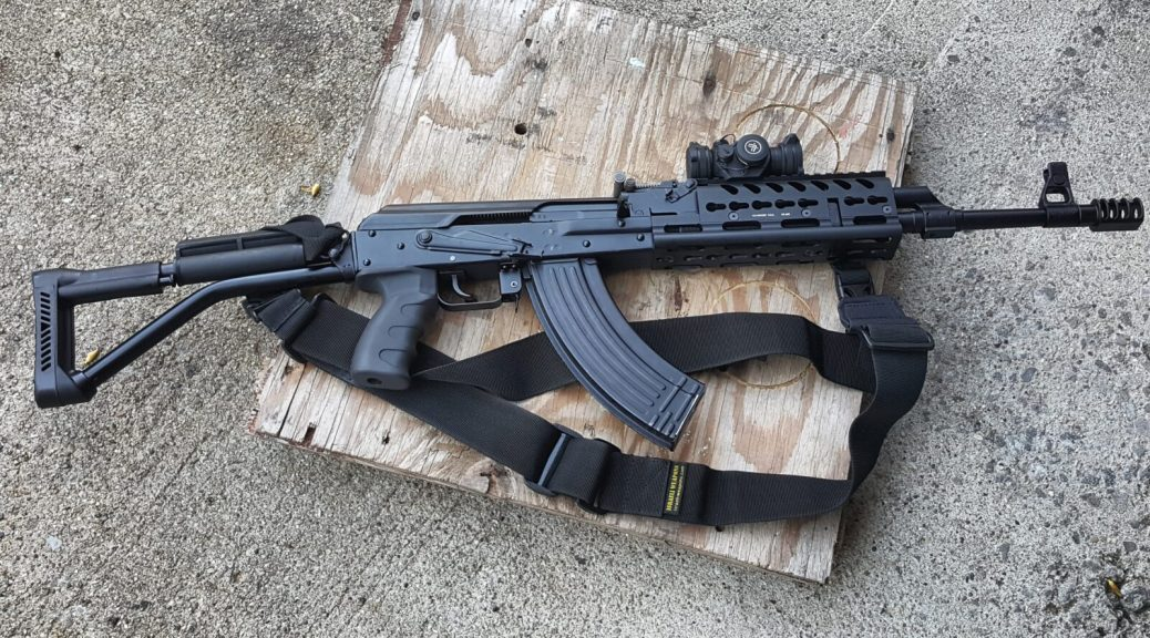 Russian AK-12 Grip on Vepr Rifle