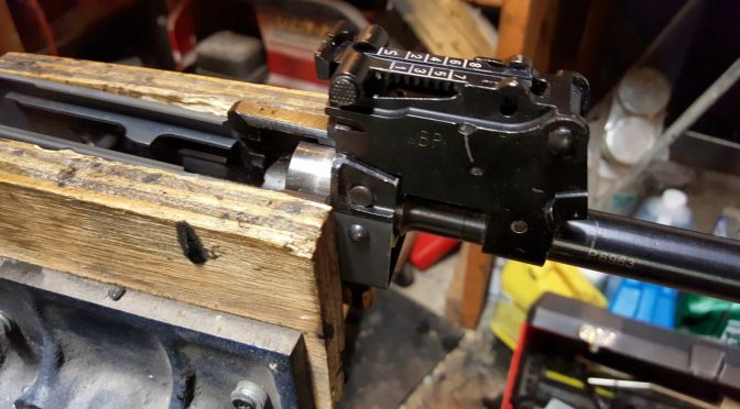 Assembling A Beryl-ish AK From A WBP Kit – Part 6 – Reinstalling the Barrel and Pin with IR Air Hammer