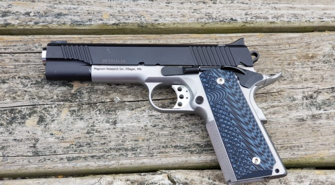 The Magnum Research DE1911G10 10mm Pistol At The Range – It's A Keeper