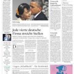 """Titelseite """"Die Welt"""" vom 20. November 2012"""