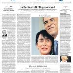 """Titelseite """"Berliner Zeitung"""" vom 20. November 2012"""