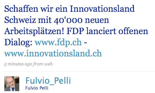 Fulvio Pelli auf Twitter
