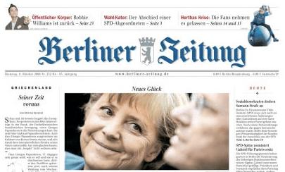 Titelseite Berliner Zeitung