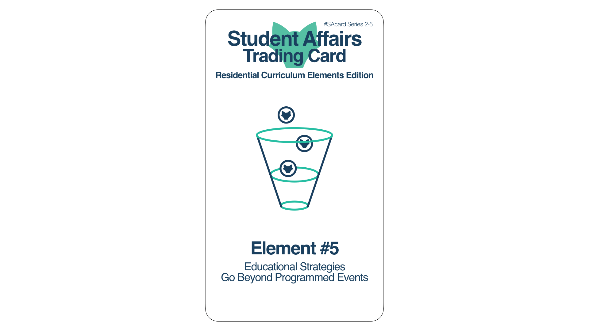 Student Affairs Trading Card 2-5: Residential Curriculum Element 5
