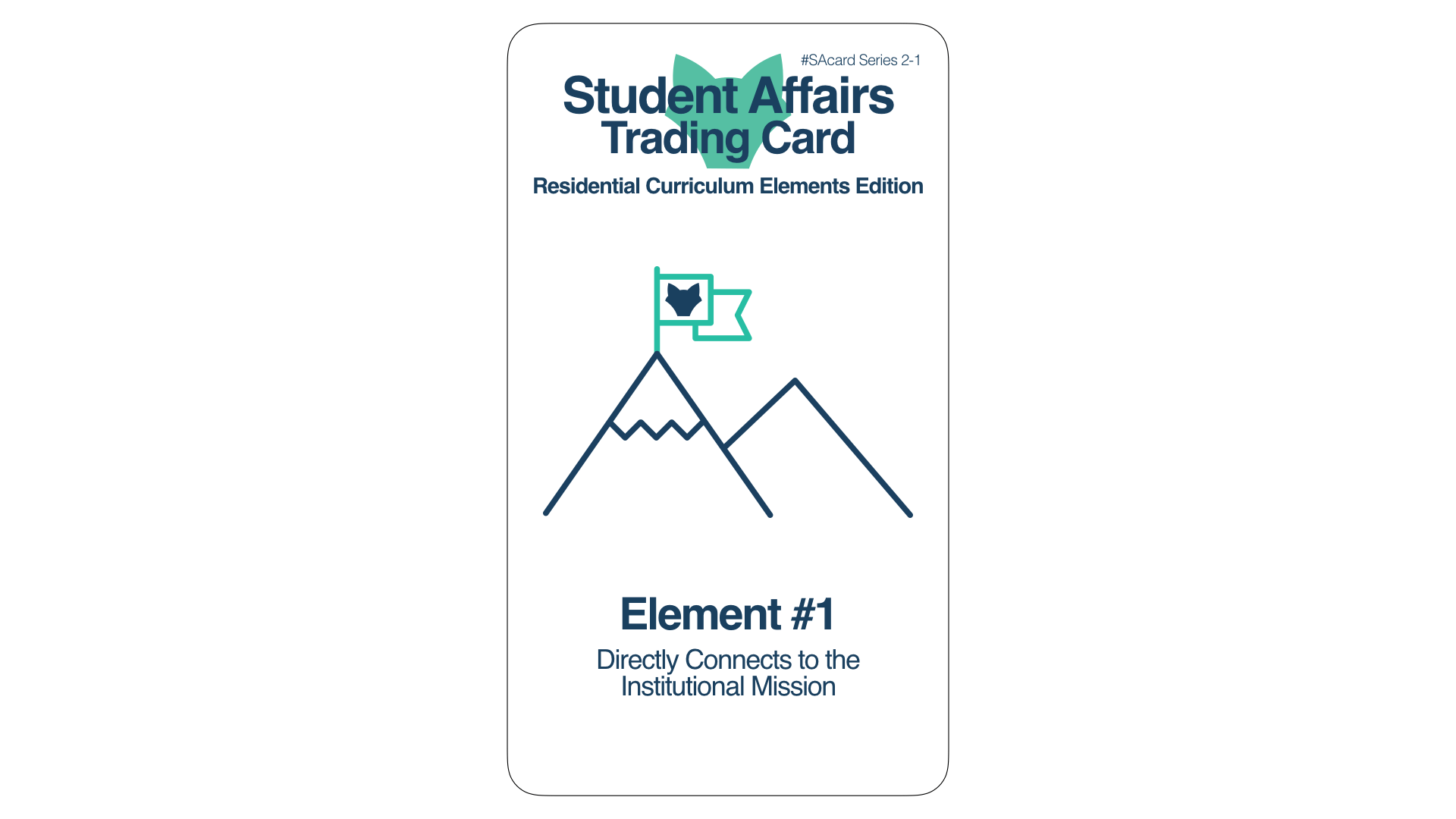 Student Affairs Trading Card 2-1: Residential Curriculum Element 1