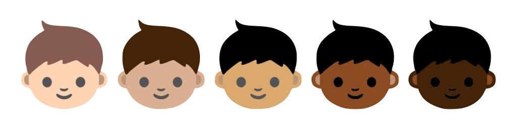 emoji of different races