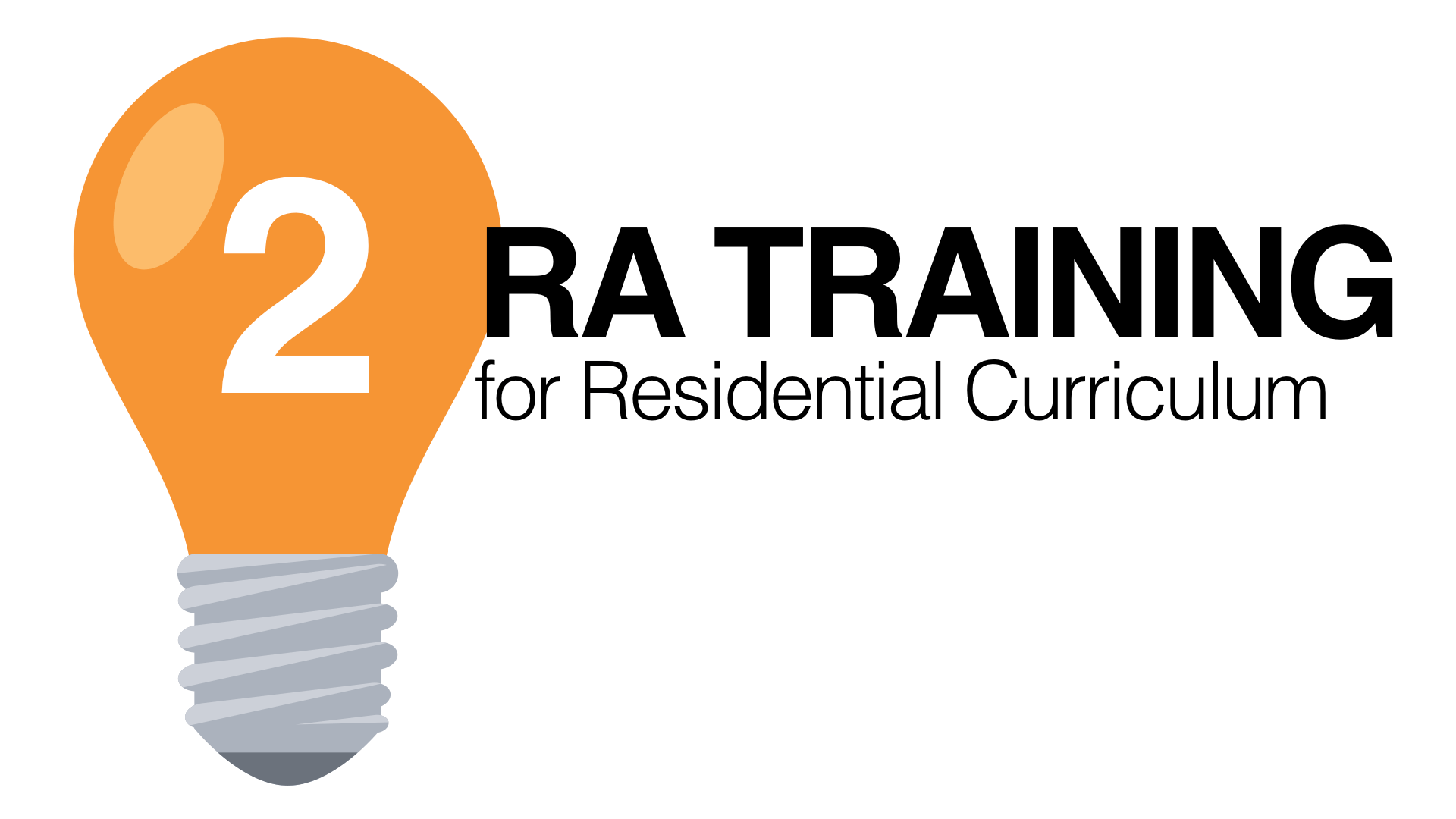 RA Training For Residential Curriculum Part 2