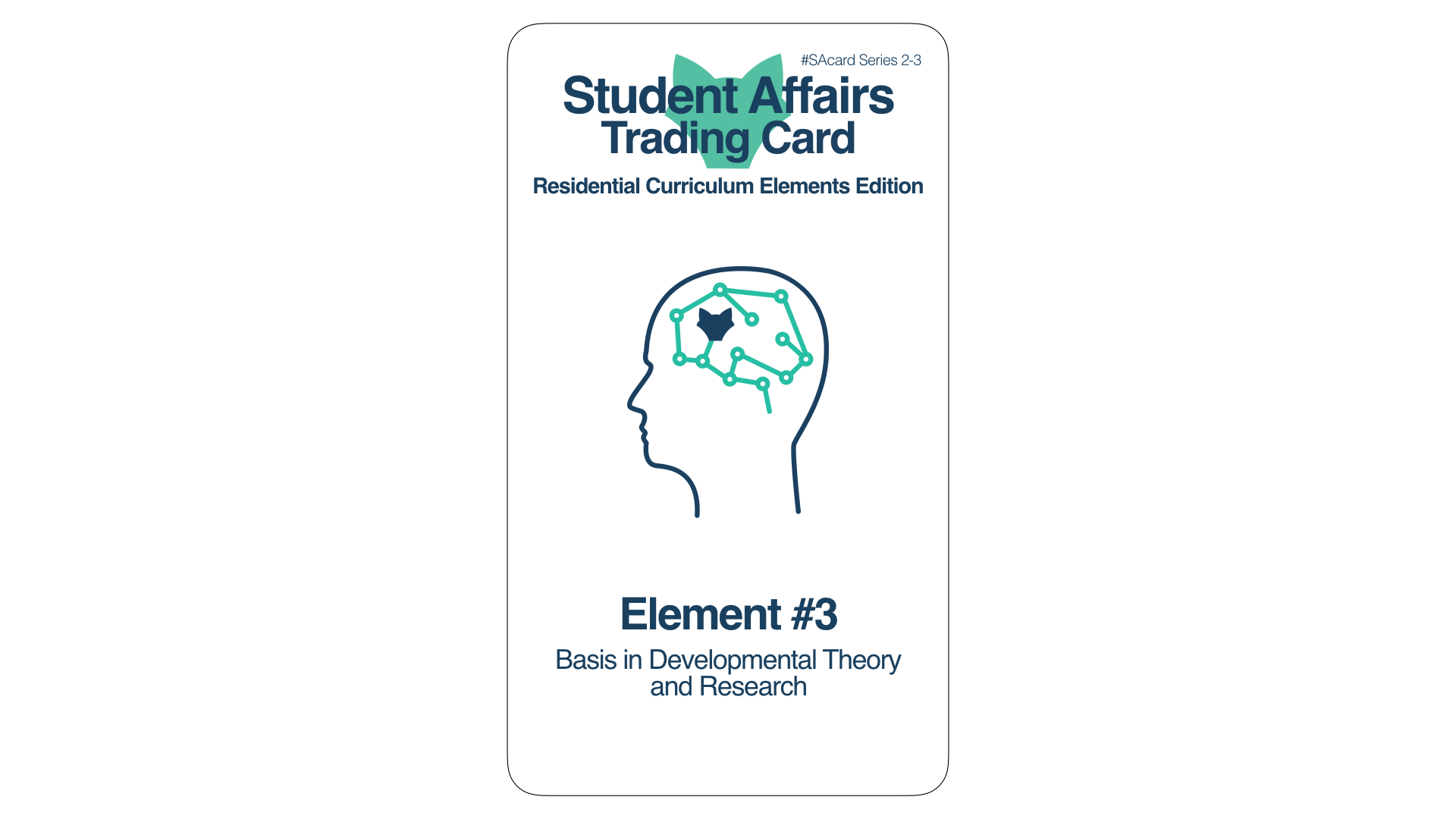 Student Affairs Trading Card 2-3: Residential Curriculum Element 3