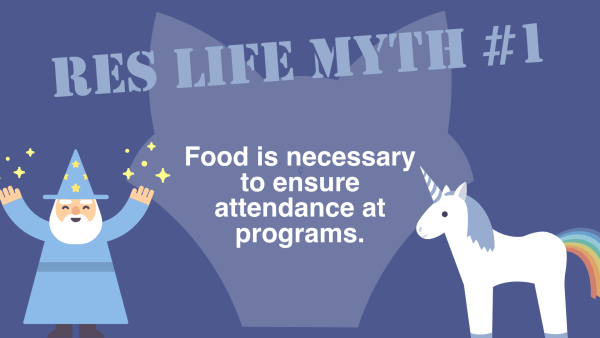 Res Life Myth #1 - Food is Necessary for Program Attendance