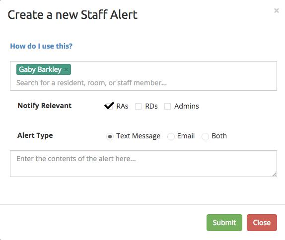 Staff Alert