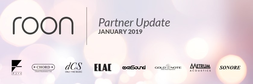 Roon Partner Update: January 2019 - Roon Labs