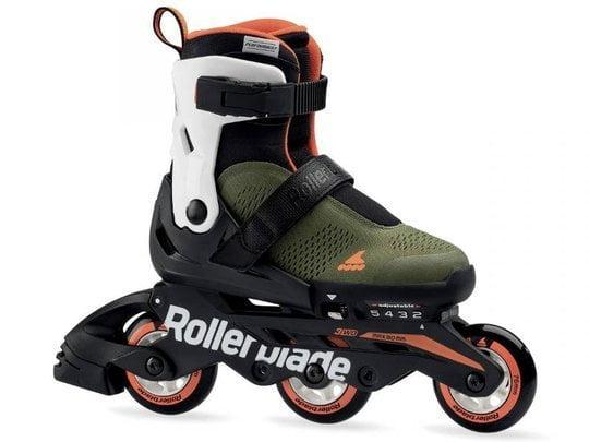 Rolki dla dzieci Rollerblade 2020 Microblade Free 3WD Military Green / Orange