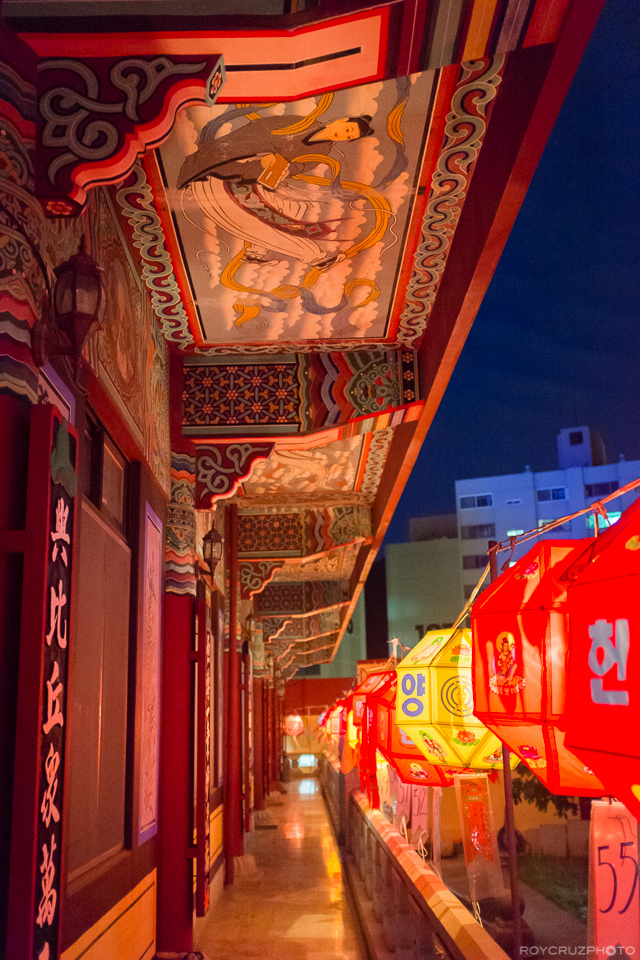 Lanterns in the Corridor ISO 6400 Seogwangsa (서광사) Temple Tongyeong, South Korea