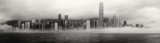 Hong Kong Skyline BW-1