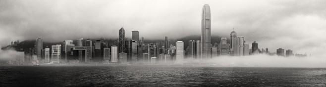 Hong Kong Skyline BW-1