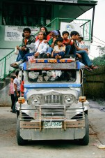 Fully loaded jeep in Banaue