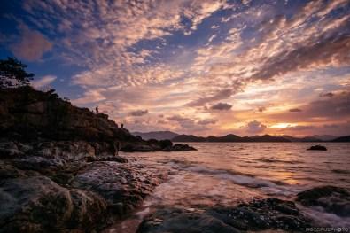 Tongyeong Marina Rock Sunrise-1